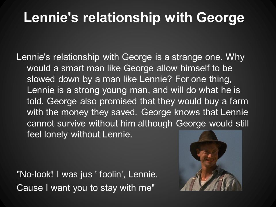 george and lennie relationship