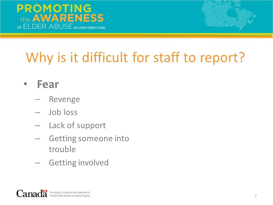 Why is it difficult for staff to report.