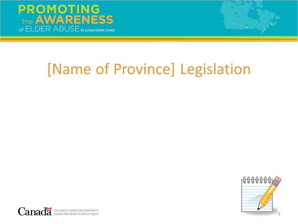[Name of Province] Legislation 9
