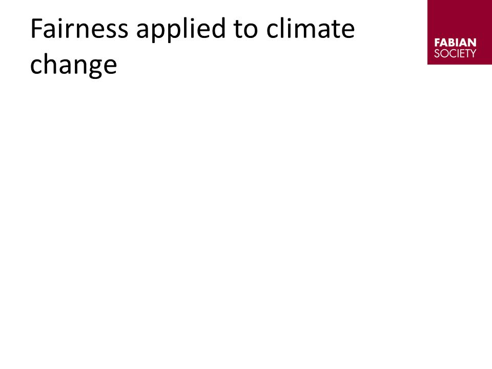 Fairness applied to climate change