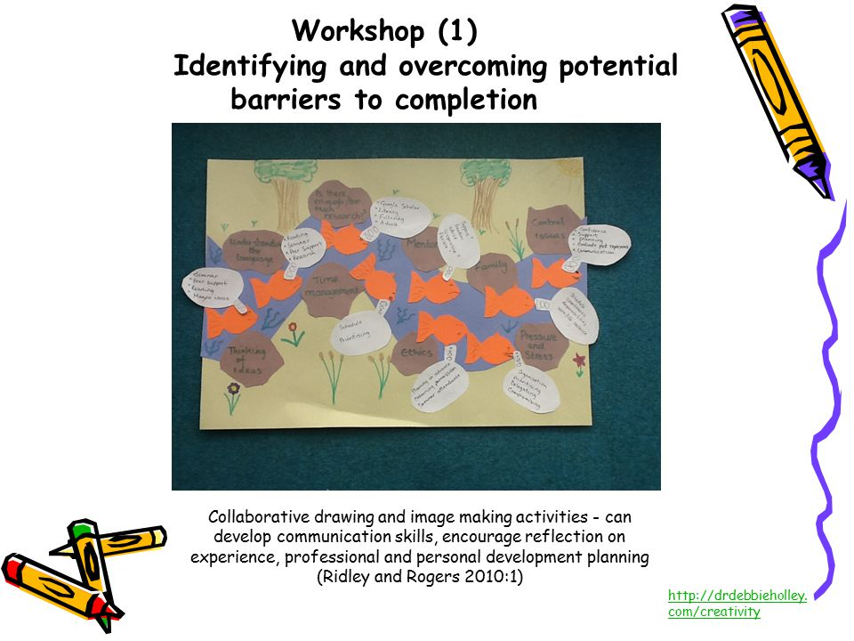 Workshop (1) Identifying and overcoming potential barriers to completion http://drdebbieholley.