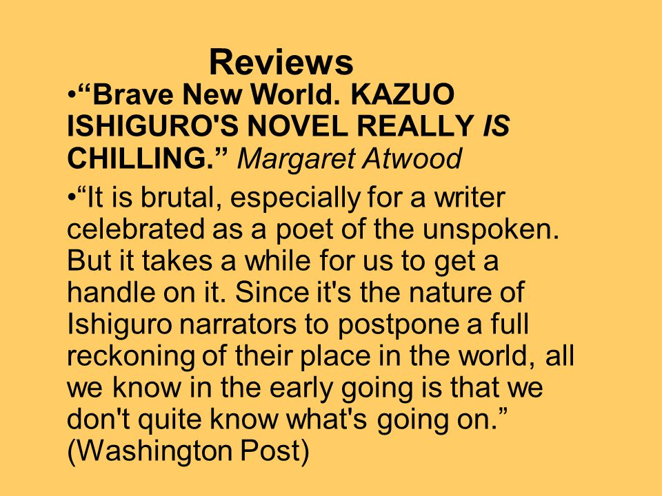 Reviews Brave New World.