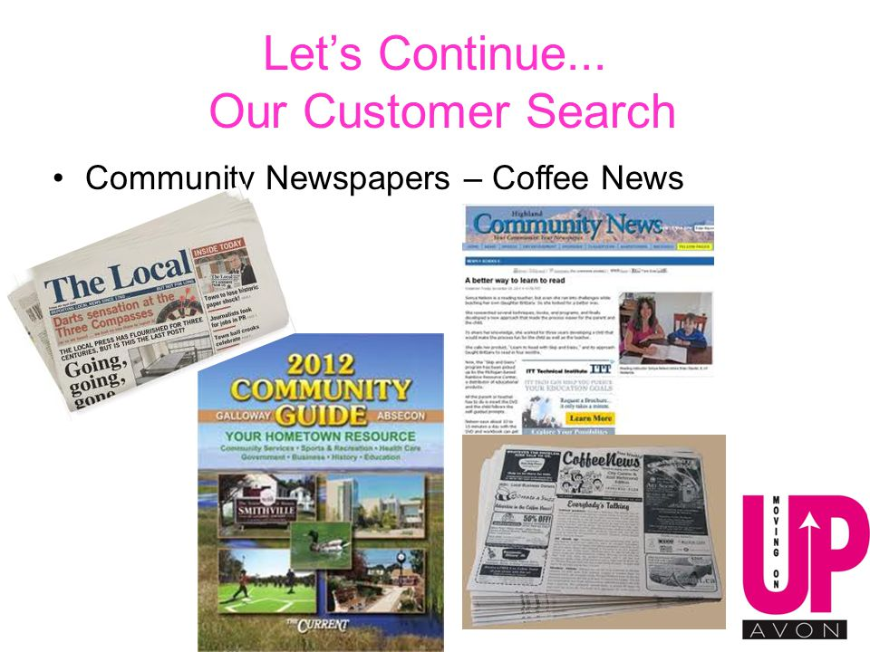 Let's Continue... Our Customer Search Community Newspapers – Coffee News