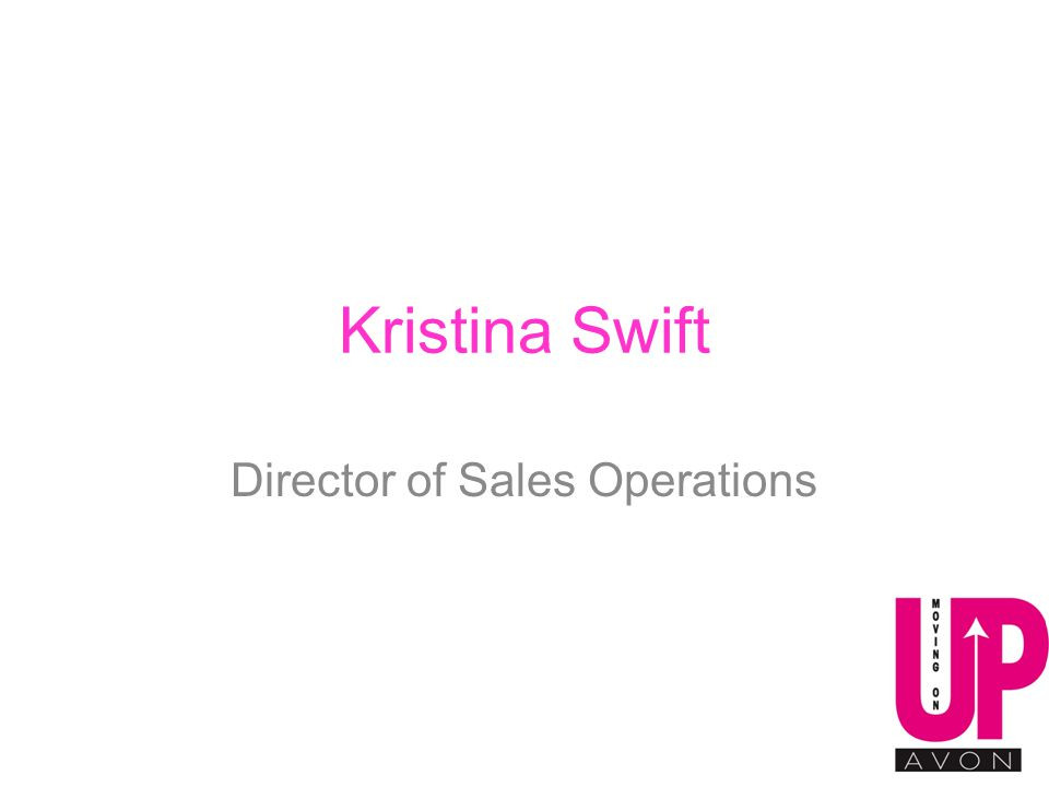 Kristina Swift Director of Sales Operations
