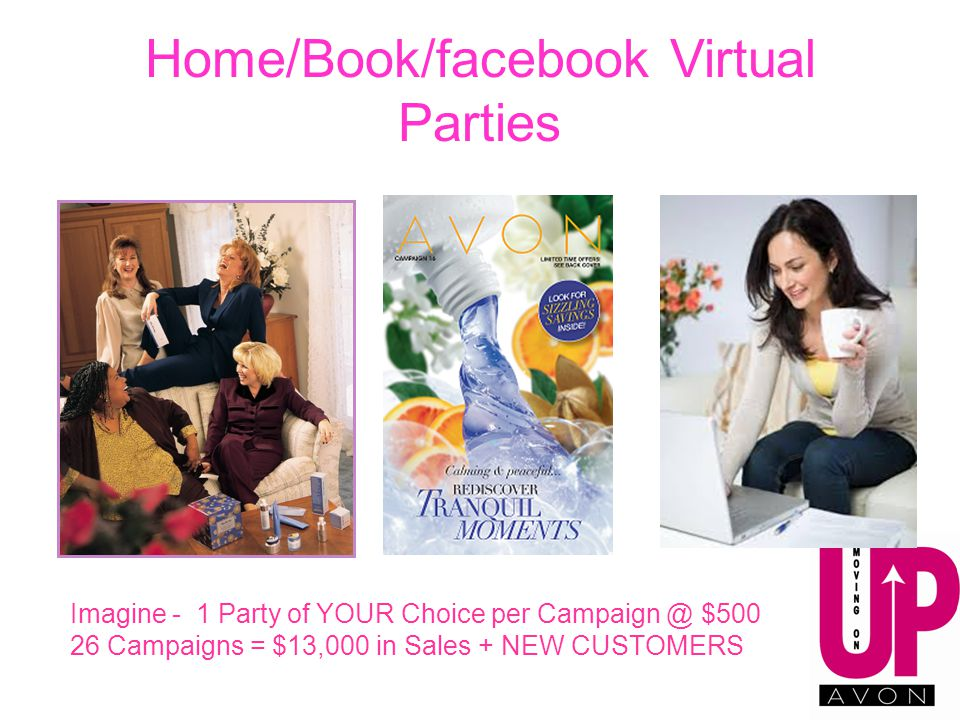 Home/Book/facebook Virtual Parties Imagine - 1 Party of YOUR Choice per Campaign @ $500 26 Campaigns = $13,000 in Sales + NEW CUSTOMERS
