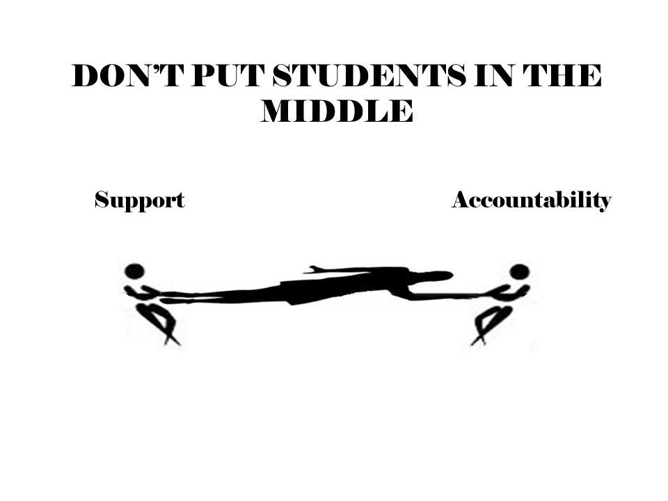 SupportAccountability DON'T PUT STUDENTS IN THE MIDDLE