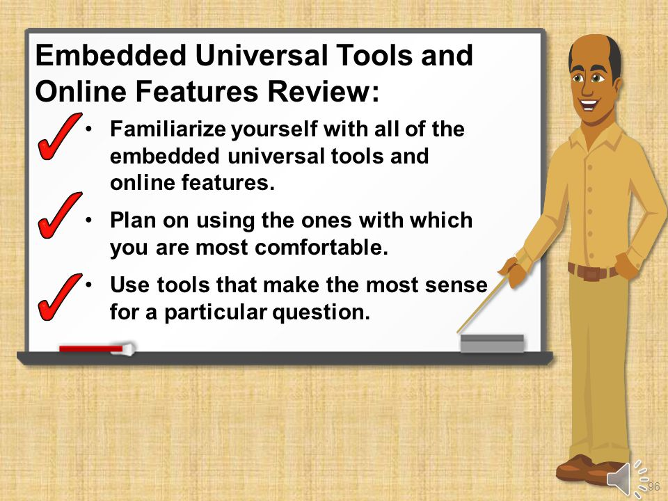 Embedded Universal Tools and Online Features Review 95