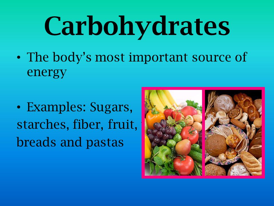 let's get healthy. what are the 6 essential nutrients? carbohydrates