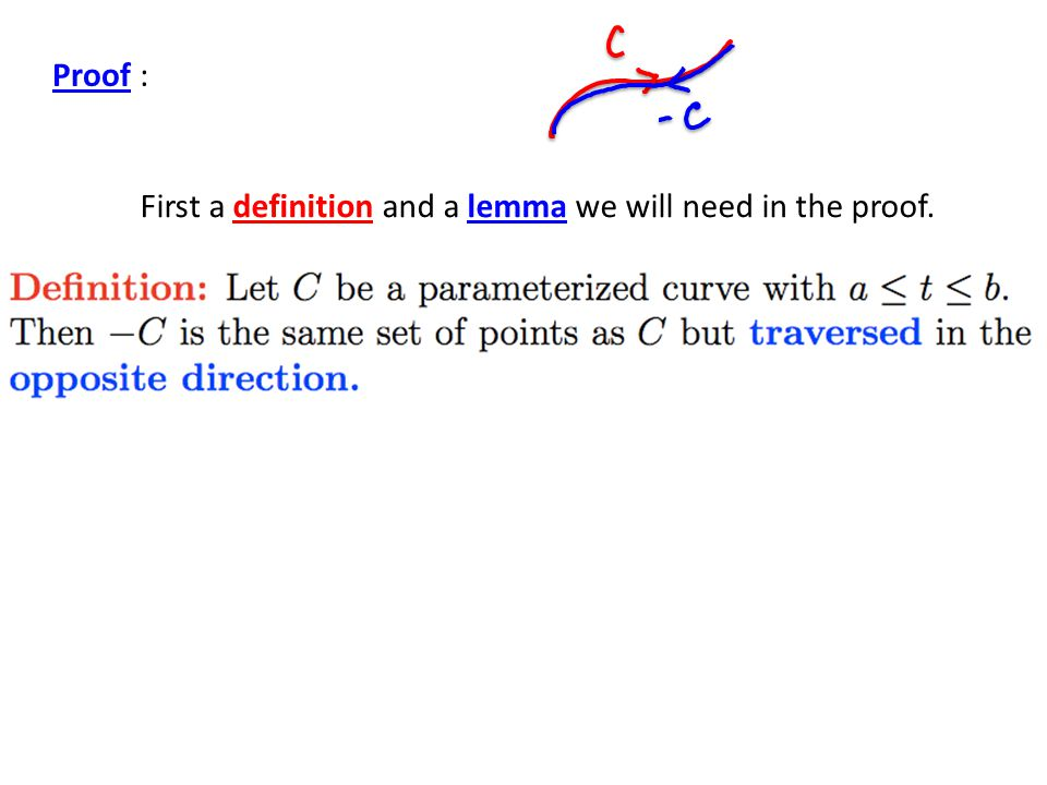 Proof : First a definition and a lemma we will need in the proof.
