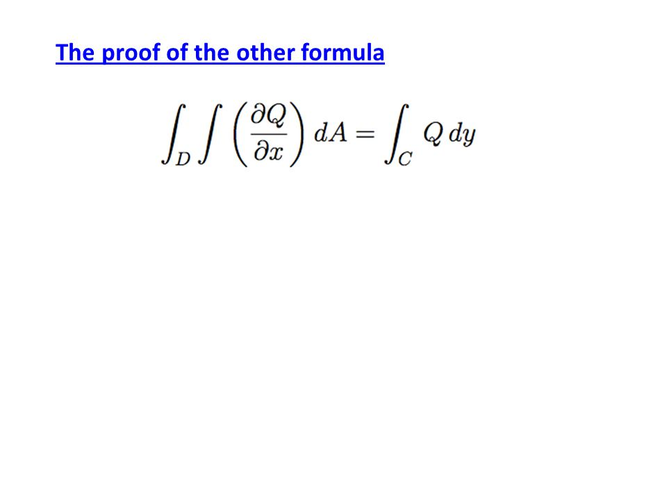 The proof of the other formula