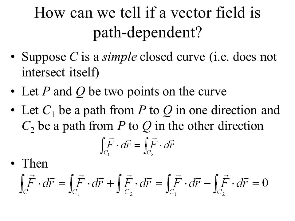 How can we tell if a vector field is path-dependent.