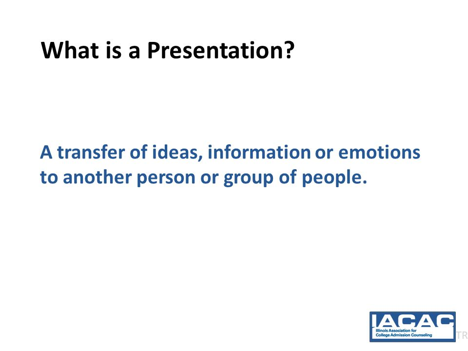 What is a Presentation.