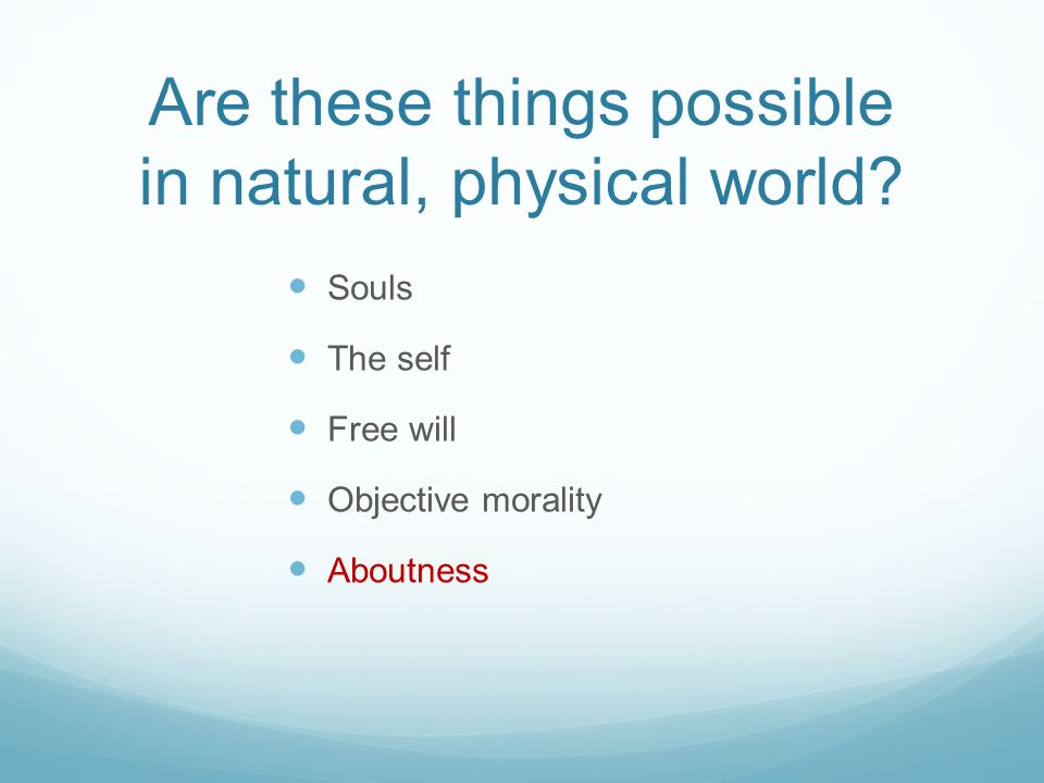 Are these things possible in natural, physical world.