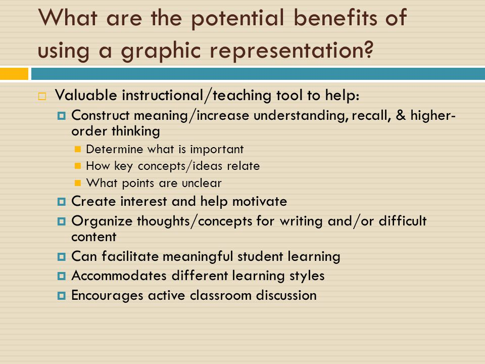 What are the potential benefits of using a graphic representation.