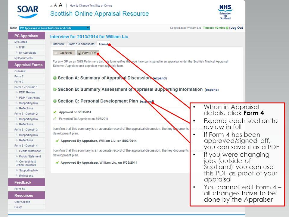 Quality Education for a Healthier Scotland Appraisal Form 4 (Summary ...