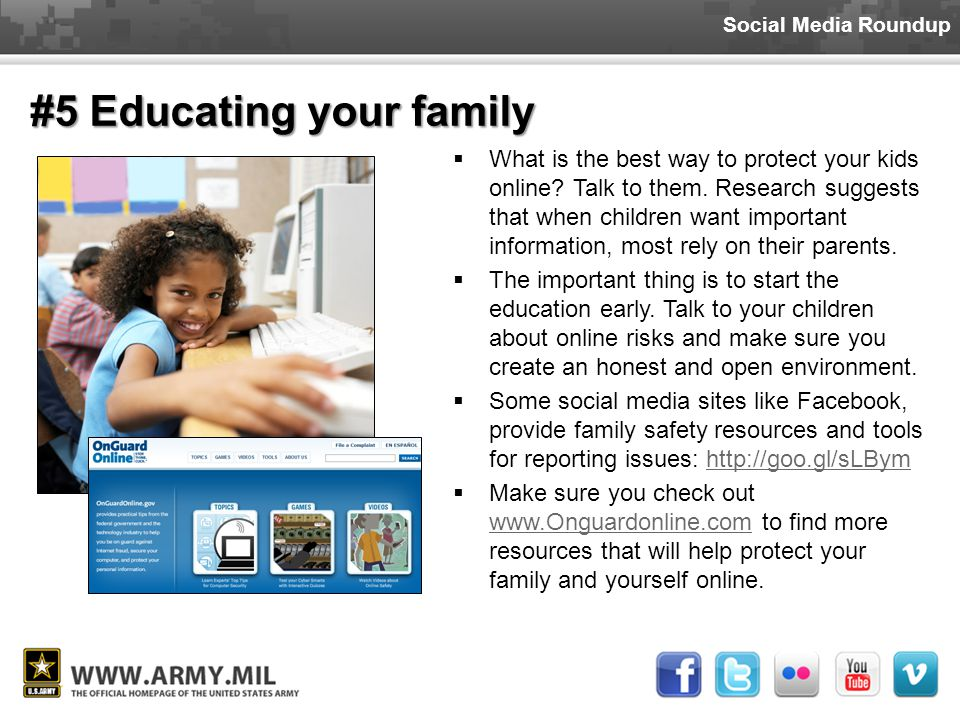 Social Media Roundup  What is the best way to protect your kids online.