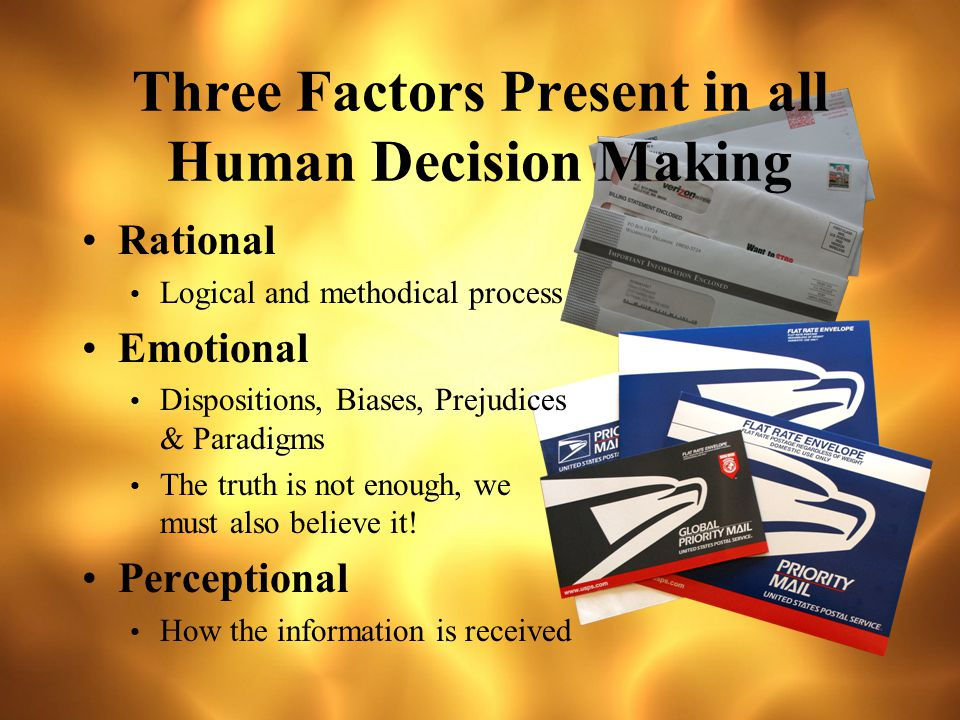Human Decision Making What do we know about it.