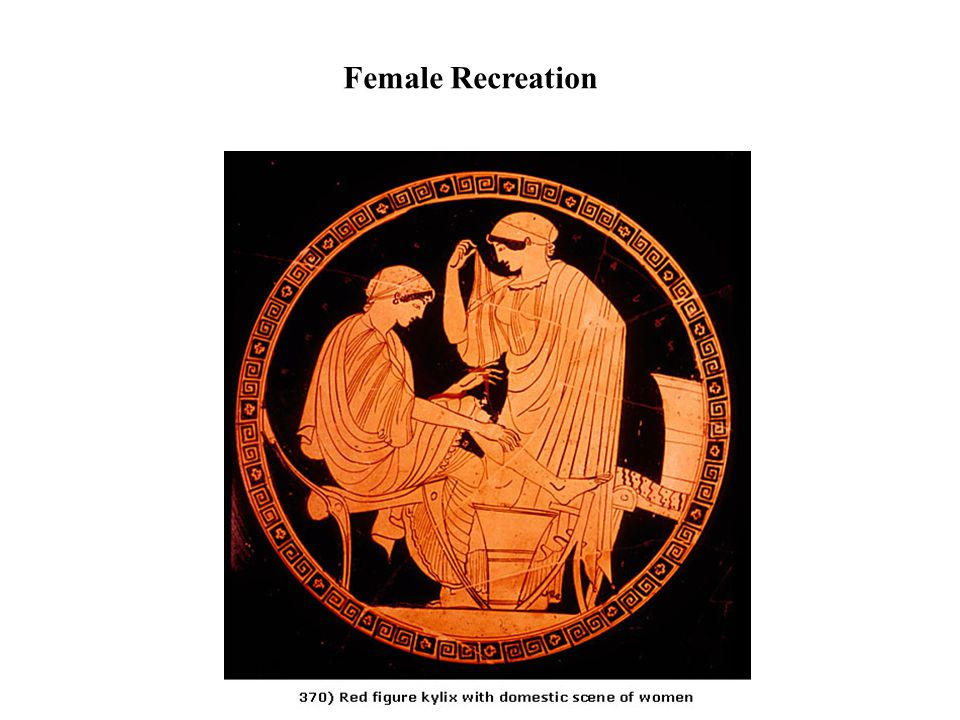 Greek Women and Athletics Female Recreation Women as Entertainment Women as Athletic Benefactors Women as Athletic Prizes Women as Spectators.