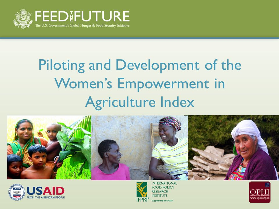 Piloting and Development of the Women's Empowerment in Agriculture Index