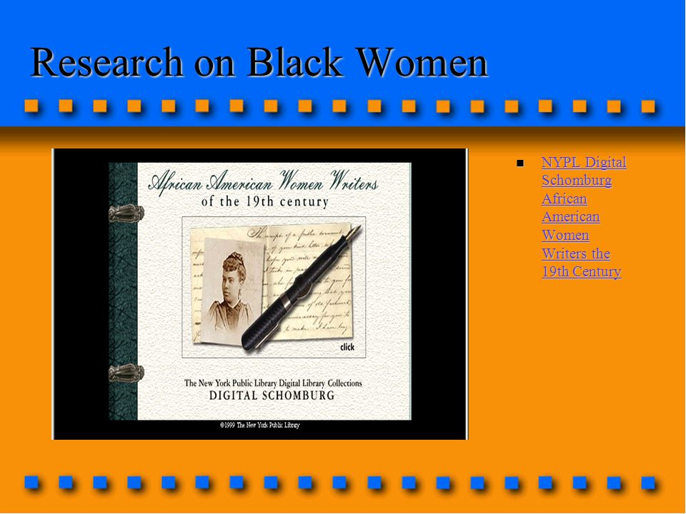 Research on Black Women n NYPL Digital Schomburg African American Women Writers the 19th Century NYPL Digital Schomburg African American Women Writers the 19th Century NYPL Digital Schomburg African American Women Writers the 19th Century