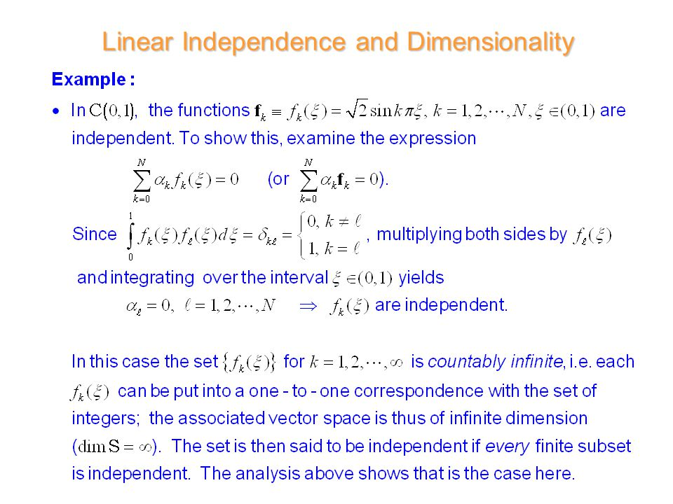 1 d r wilton ece dept ece 6382 introduction to linear vector 10 linear independence and dimensionality publicscrutiny Image collections