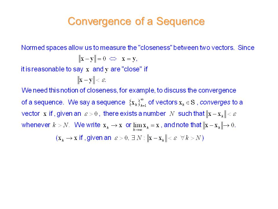 Convergence of a Sequence