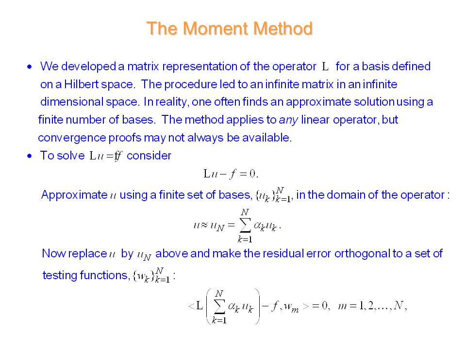 The Moment Method
