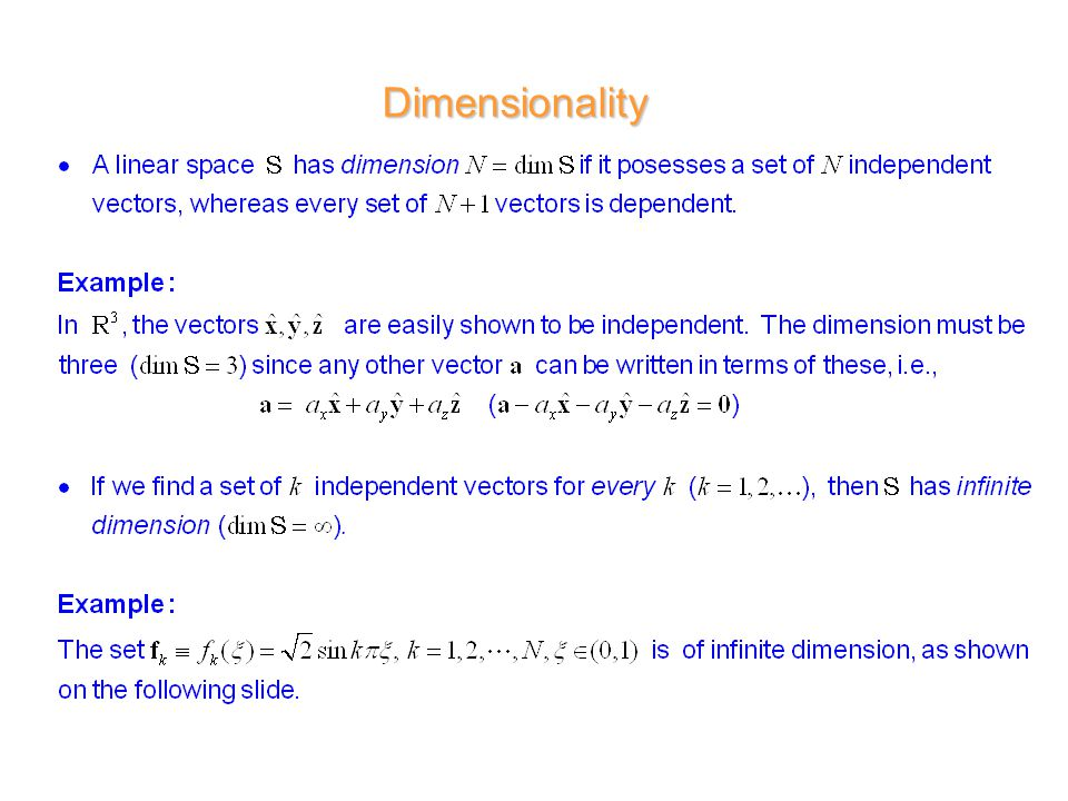 1 d r wilton ece dept ece 6382 introduction to linear vector 9 dimensionality publicscrutiny Image collections