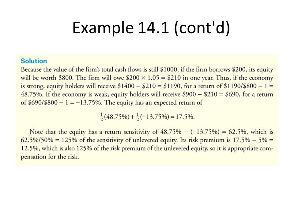 Example 14.1 (cont d)
