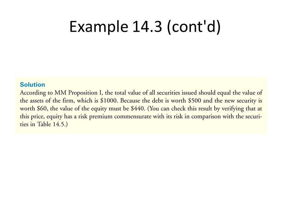 Example 14.3 (cont d)