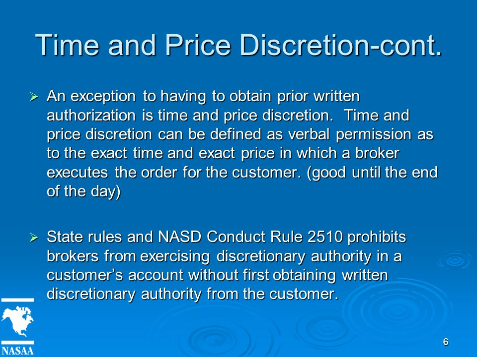 6 Time and Price Discretion-cont.