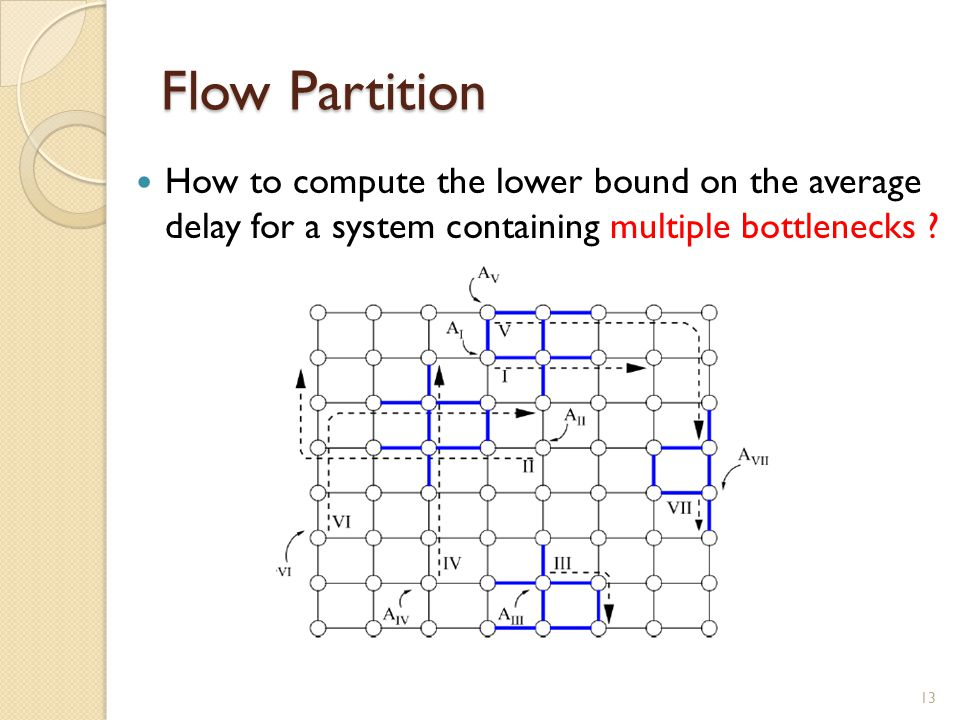 Flow Partition How to compute the lower bound on the average delay for a system containing multiple bottlenecks .