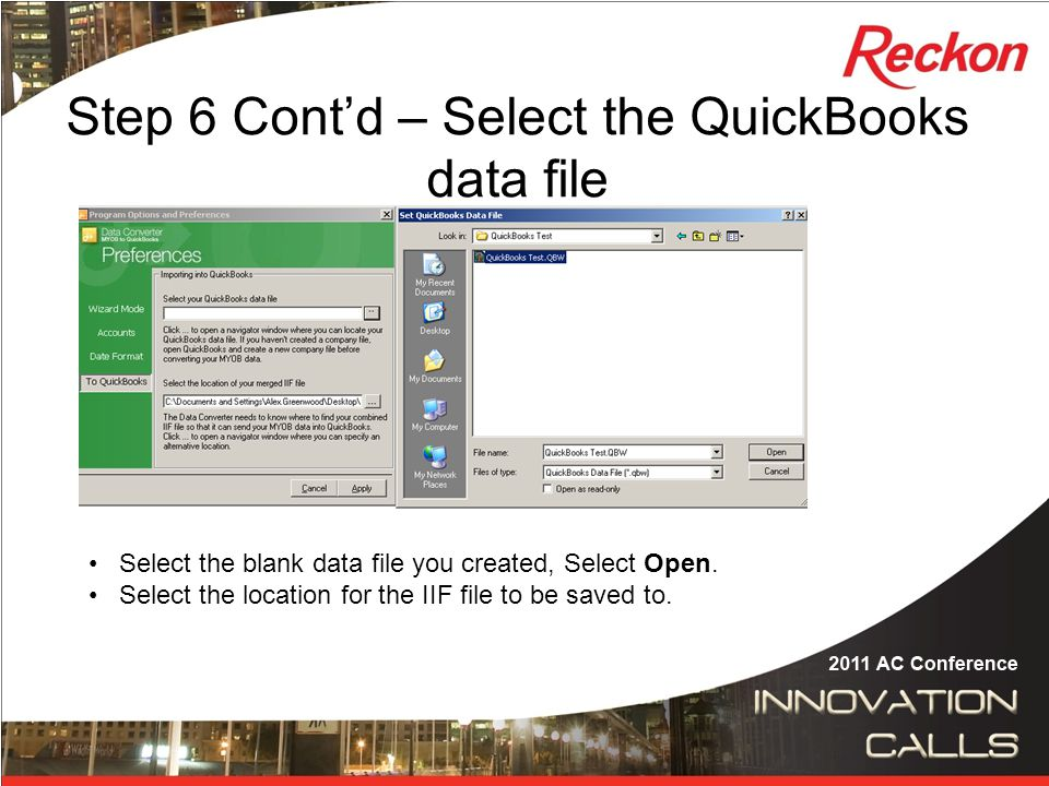 MYOB to QuickBooks Conversions Presented by Alex Wild  - ppt