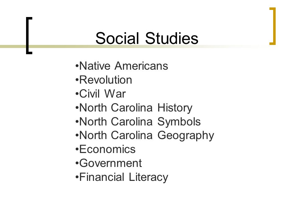 Social Studies Native Americans Revolution Civil War North Carolina History North Carolina Symbols North Carolina Geography Economics Government Financial Literacy