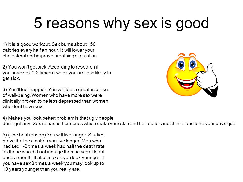 Is sex good for you when you are sick