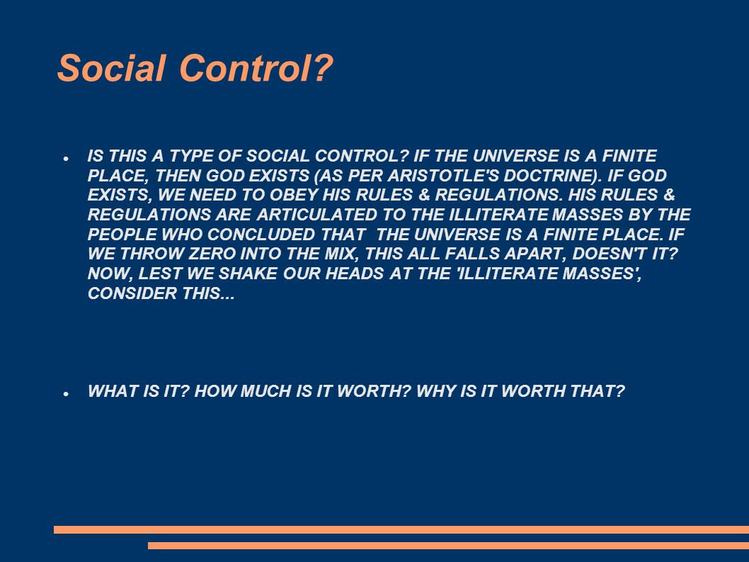 Social Control. IS THIS A TYPE OF SOCIAL CONTROL.