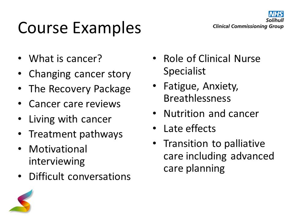 Course Examples What is cancer.
