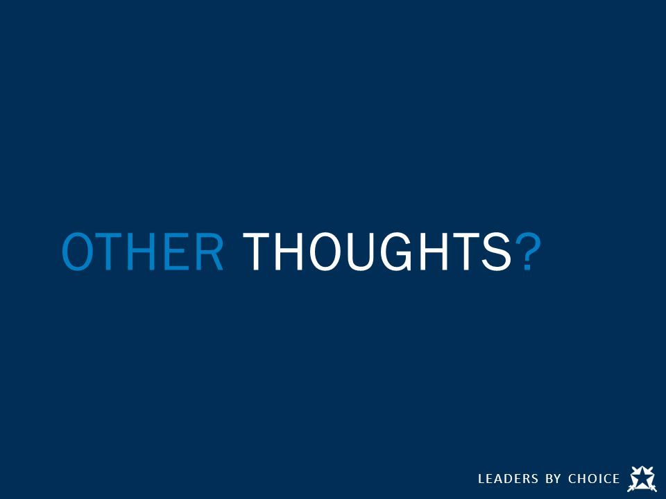 OTHER THOUGHTS