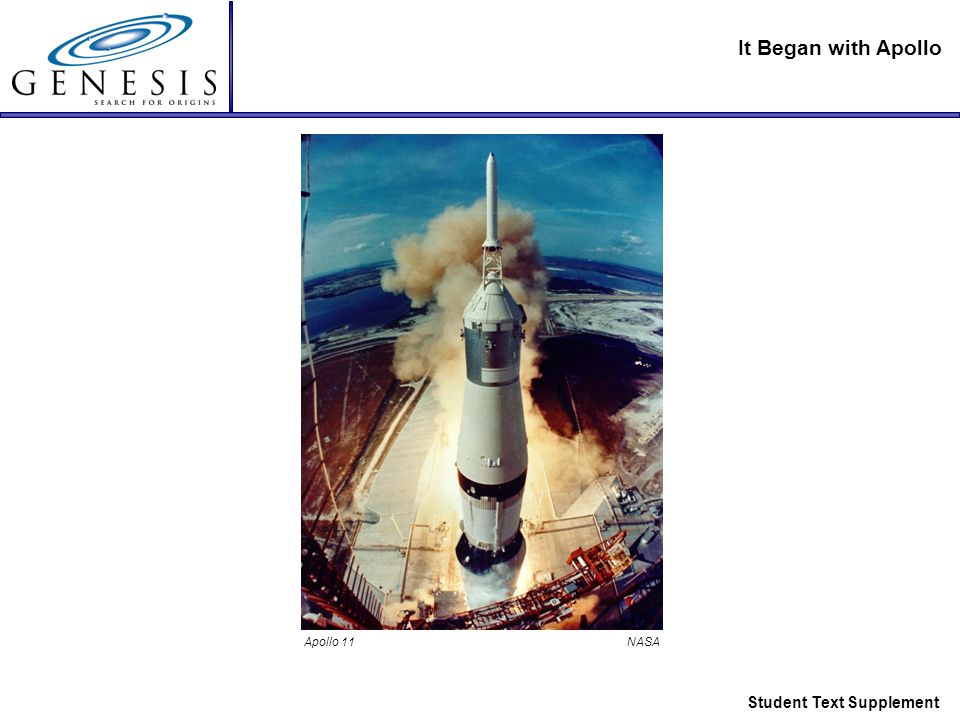 It Began with Apollo Student Text Supplement Apollo 11 NASA