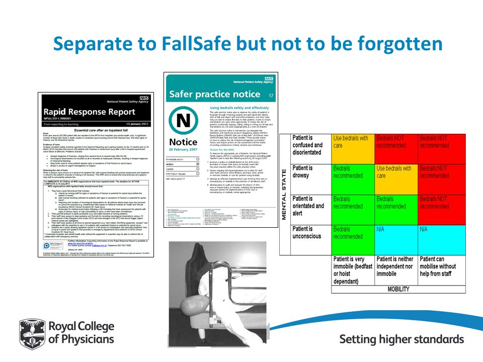 Separate to FallSafe but not to be forgotten