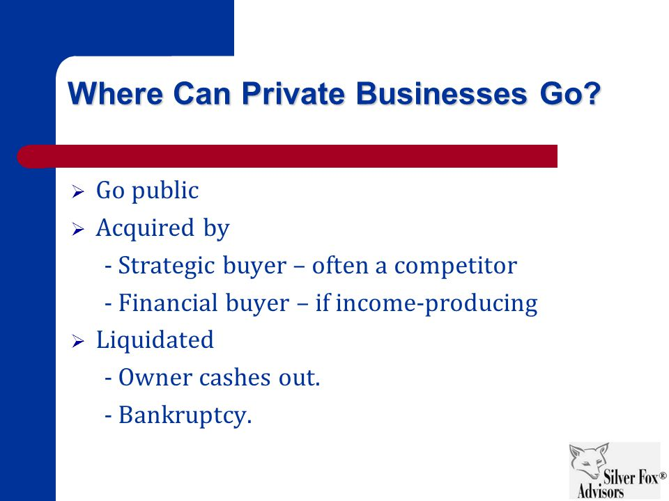 Where Can Private Businesses Go.