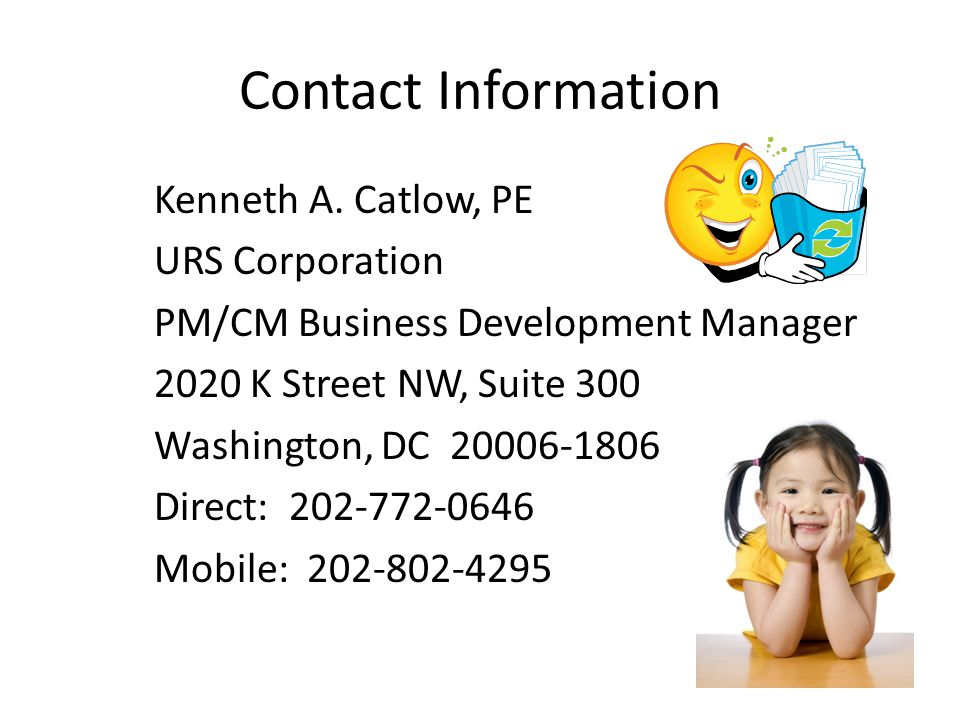 Contact Information Kenneth A.