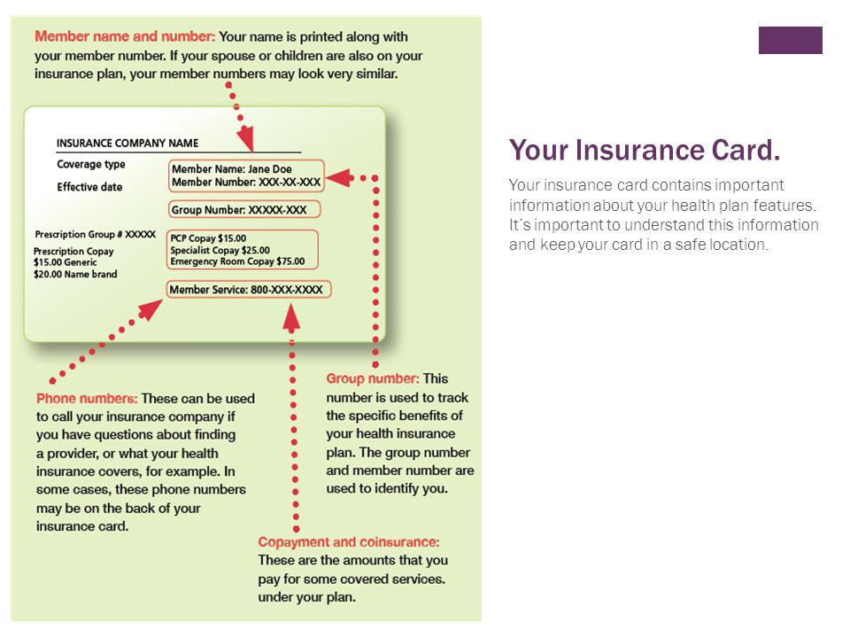+ Your Insurance Card.
