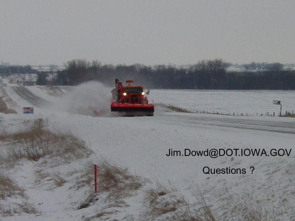 Jim.Dowd@DOT.IOWA.GOV Questions