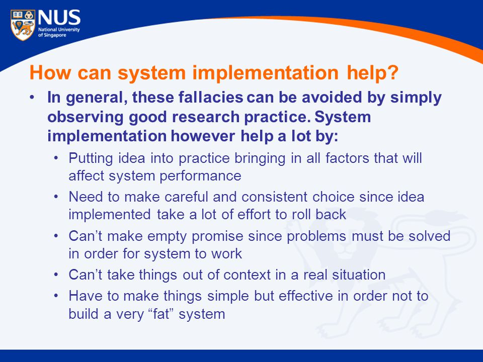 How can system implementation help.