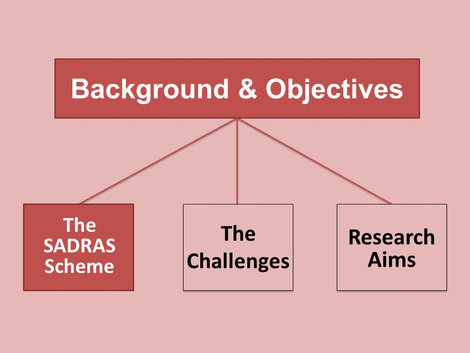 Background & Objectives The Challenges Research Aims The SADRAS Scheme