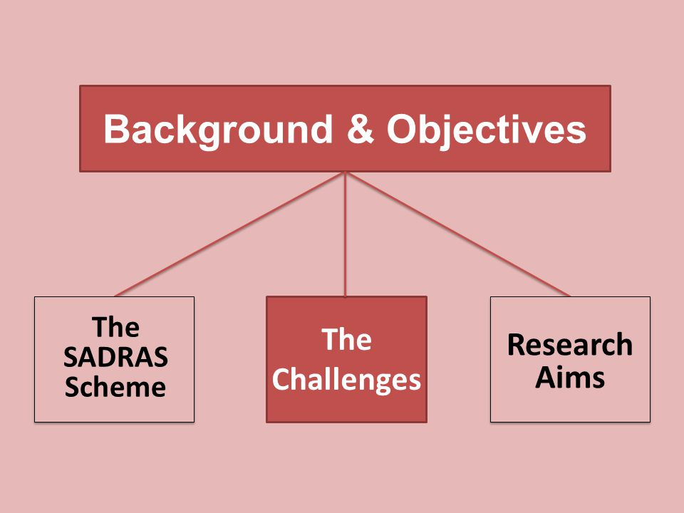 Background & Objectives Research Aims The SADRAS Scheme The Challenges