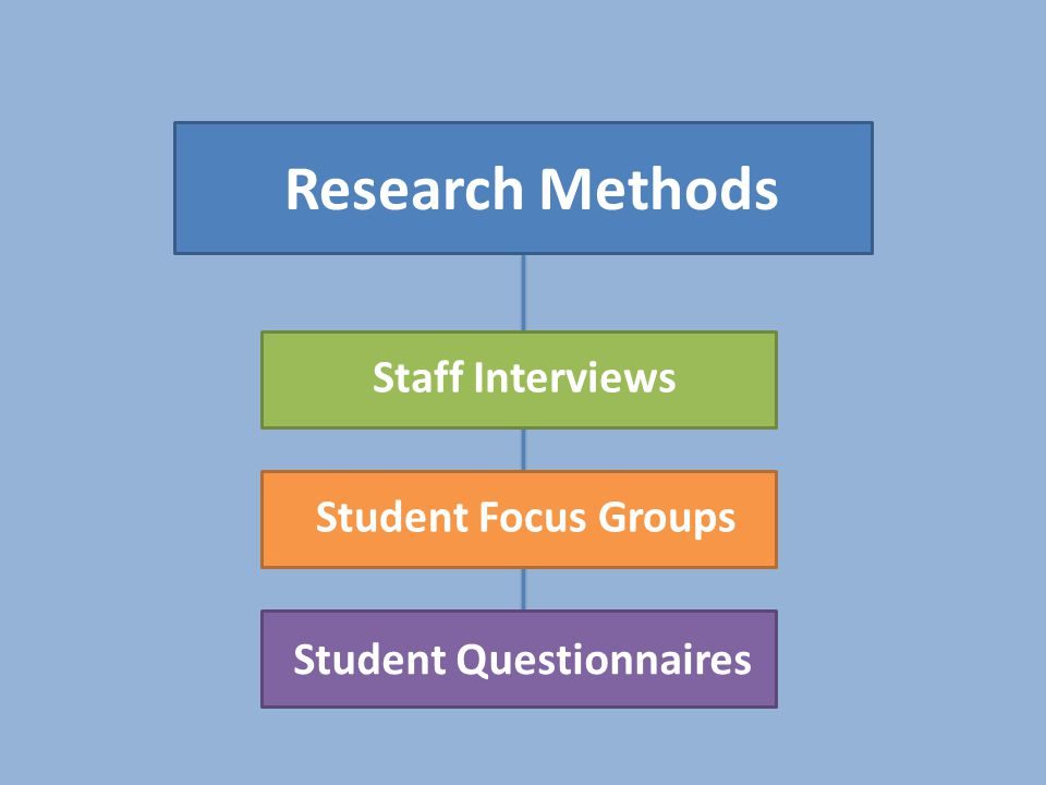Research Methods Staff Interviews Student Focus Groups Student Questionnaires