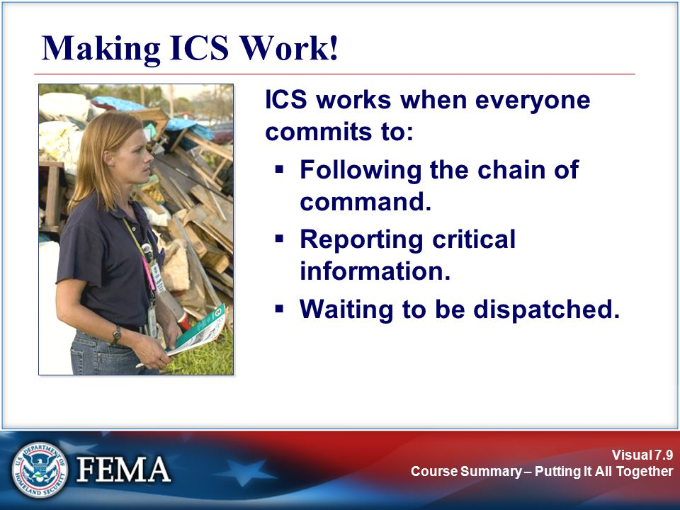 Visual 7.9 Course Summary – Putting It All Together Making ICS Work.
