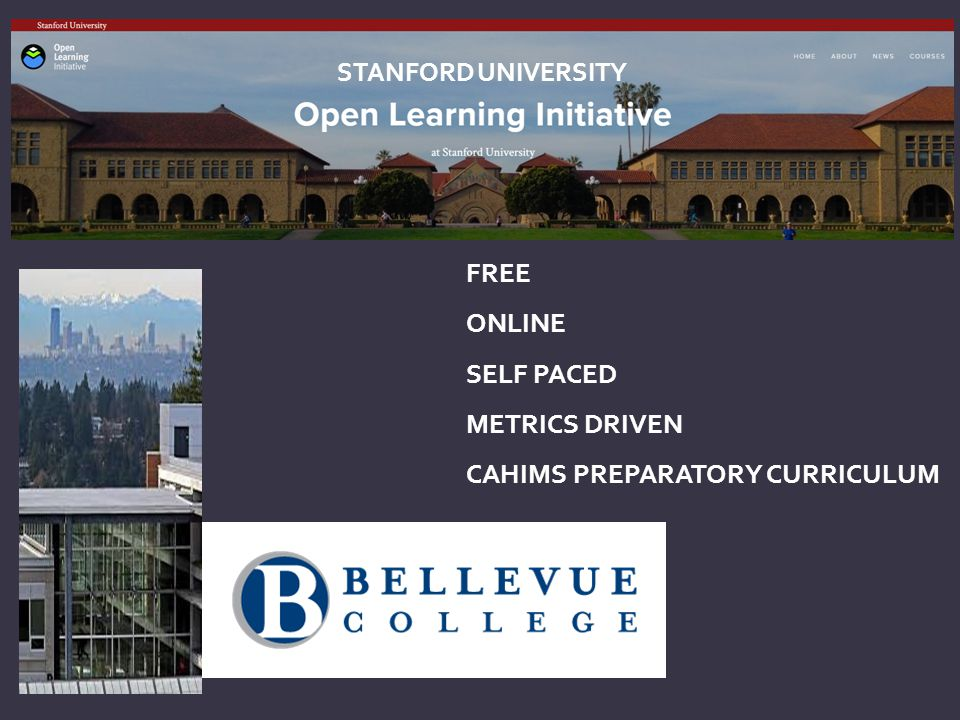 FREE ONLINE SELF PACED METRICS DRIVEN CAHIMS PREPARATORY CURRICULUM STANFORD UNIVERSITY